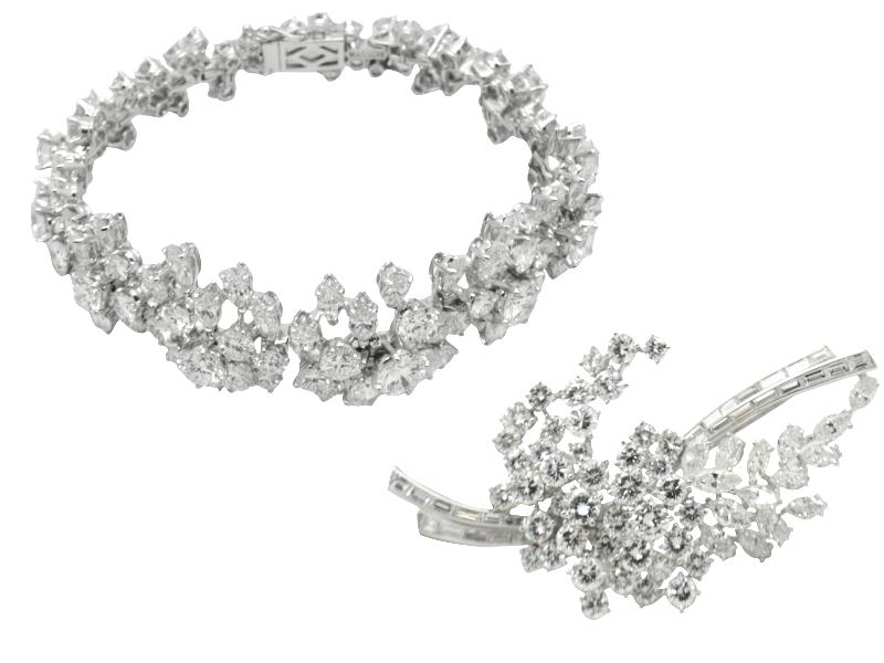 35 ct Massoni diamond set