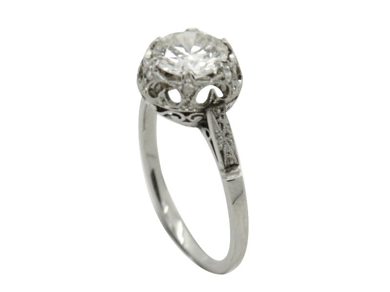 1920s old cut diamond ring