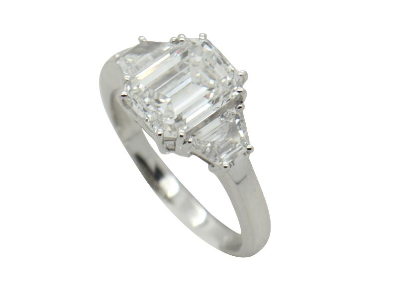 Massoni emerald cut diamond ring