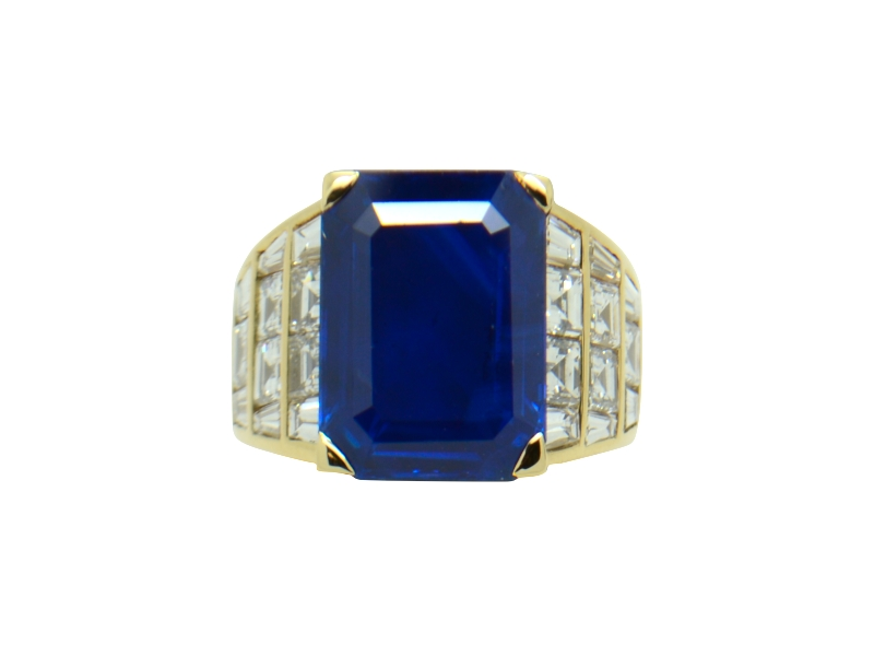 Sapphire ring ct 12.30