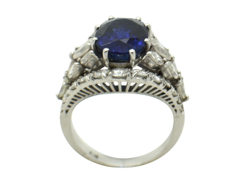 Not heated sapphire ring ct 5.30
