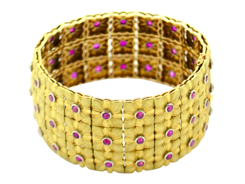 Gold and ruby Buccellati bracelet