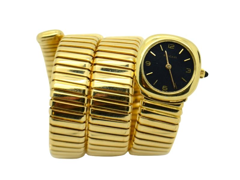1970s Bulgari yellow gold watch
