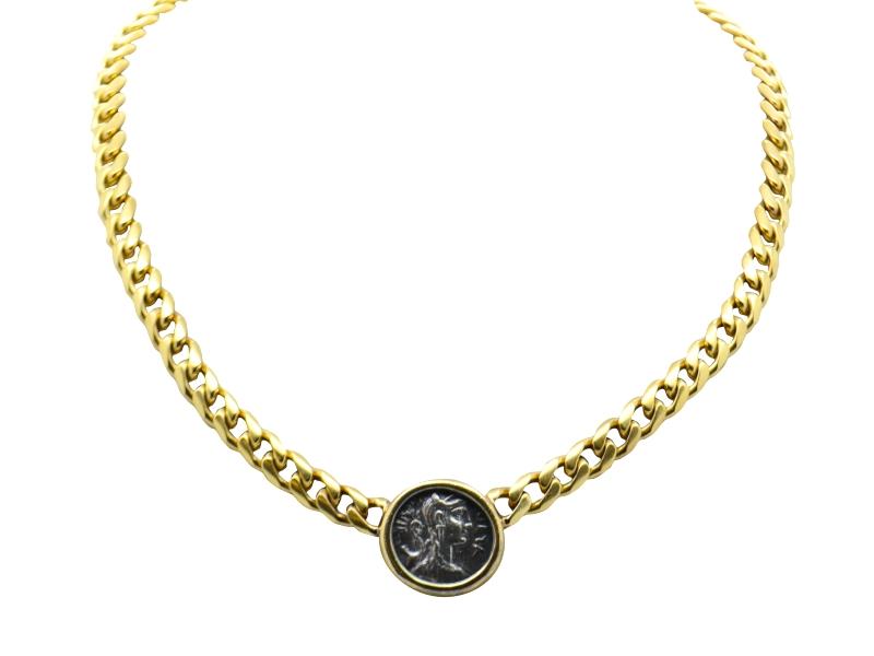 1980s Bulgari coin necklace