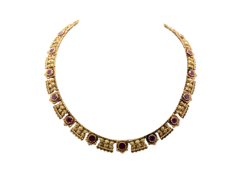 1970s Buccellati ruby necklace