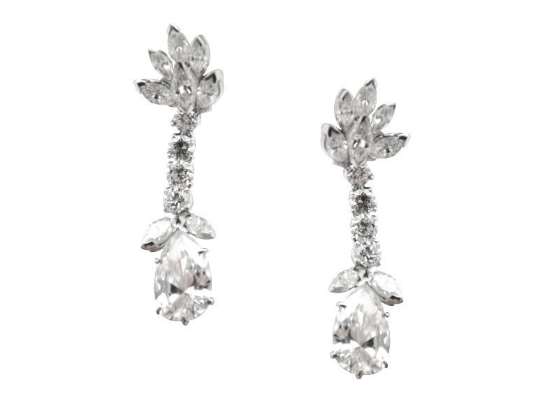 1980s diamond earrings