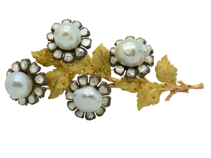 Buccellati pearl brooch