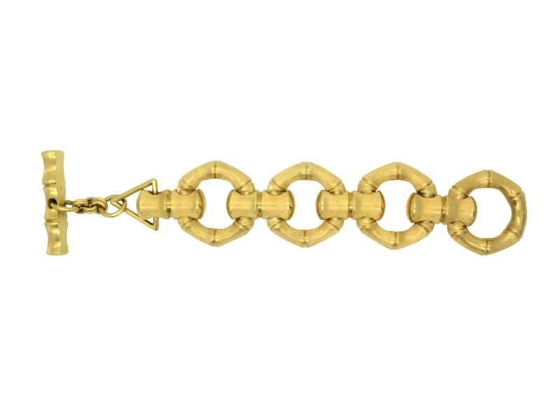 Bamboo cane gold bracelet