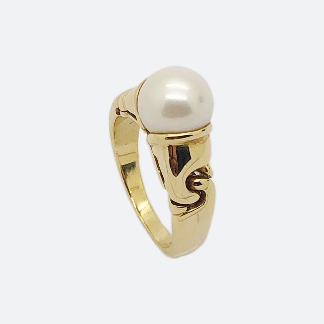Bulgari pearl ring