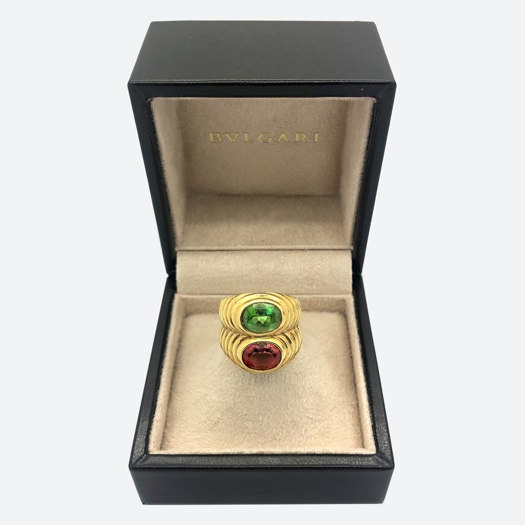 Bulgari two color Trombino ring