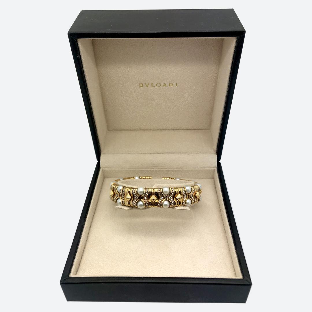 Bulgari pearl bracelet