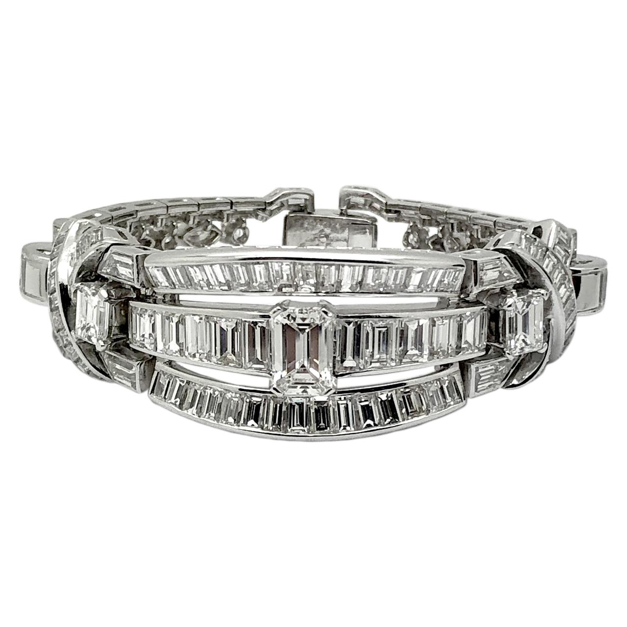 1950s platinum bracelet