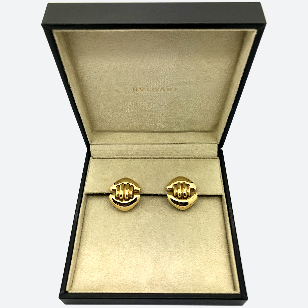 Bulgari gold earrings