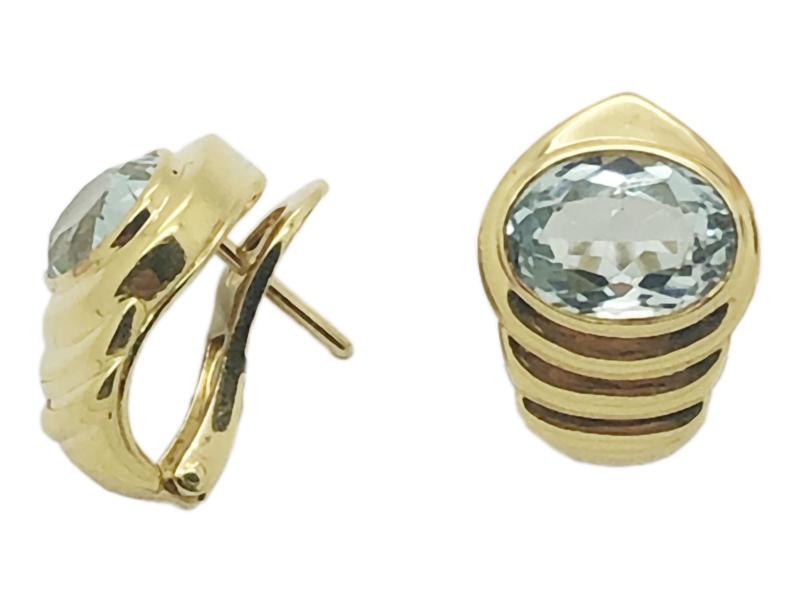 Bulgari aquamarine earrings