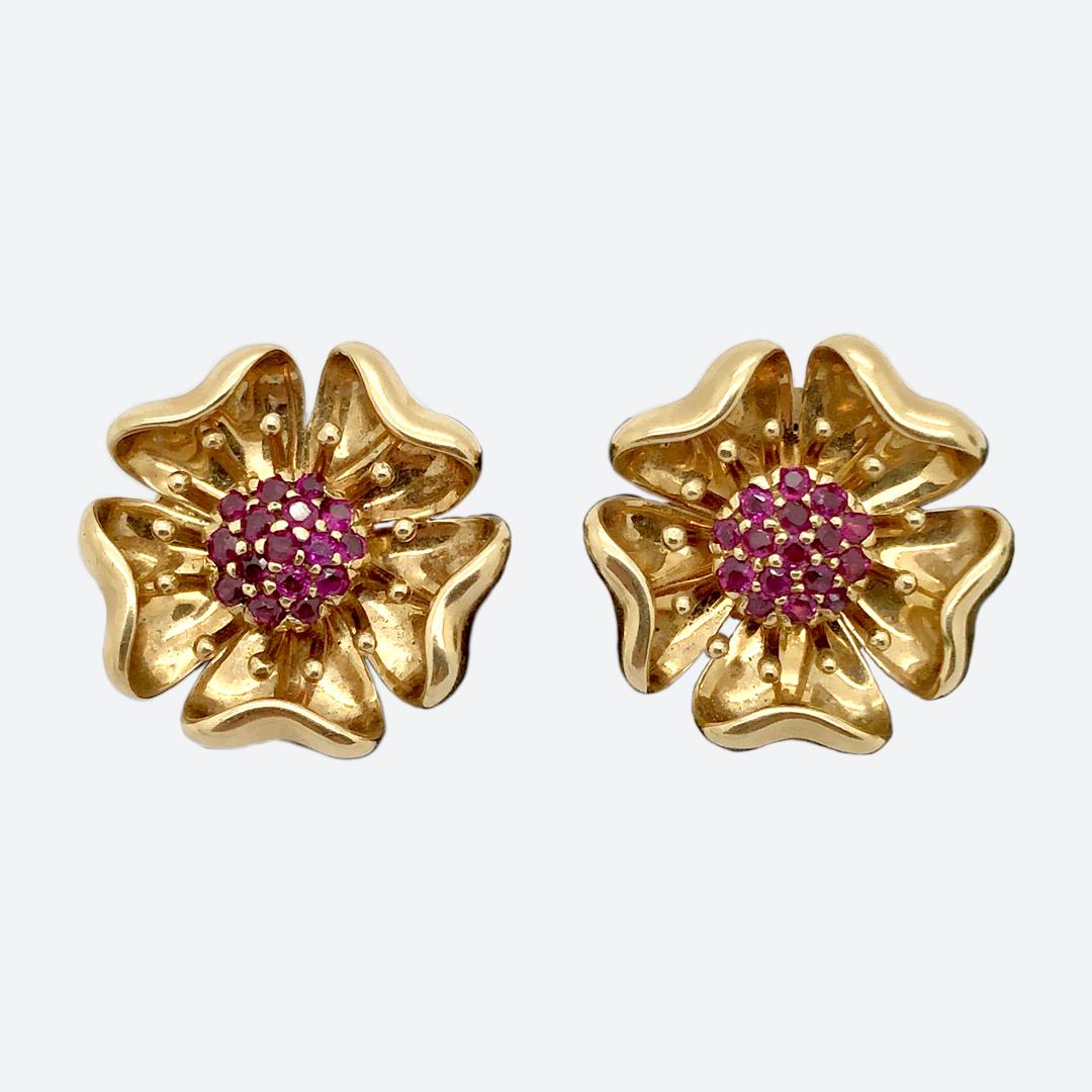 Tiffany flower earrings