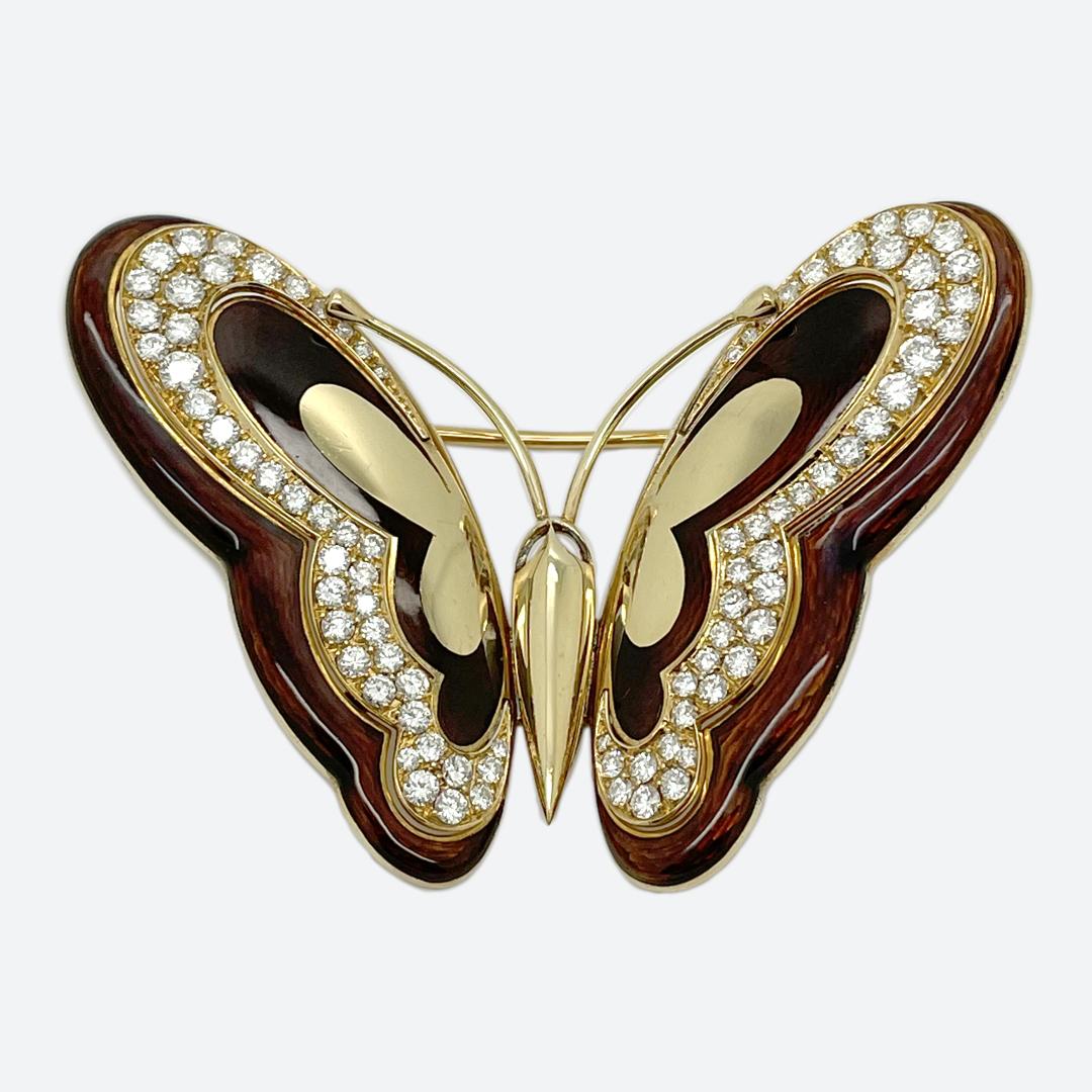 Bulgari butterfly brooch