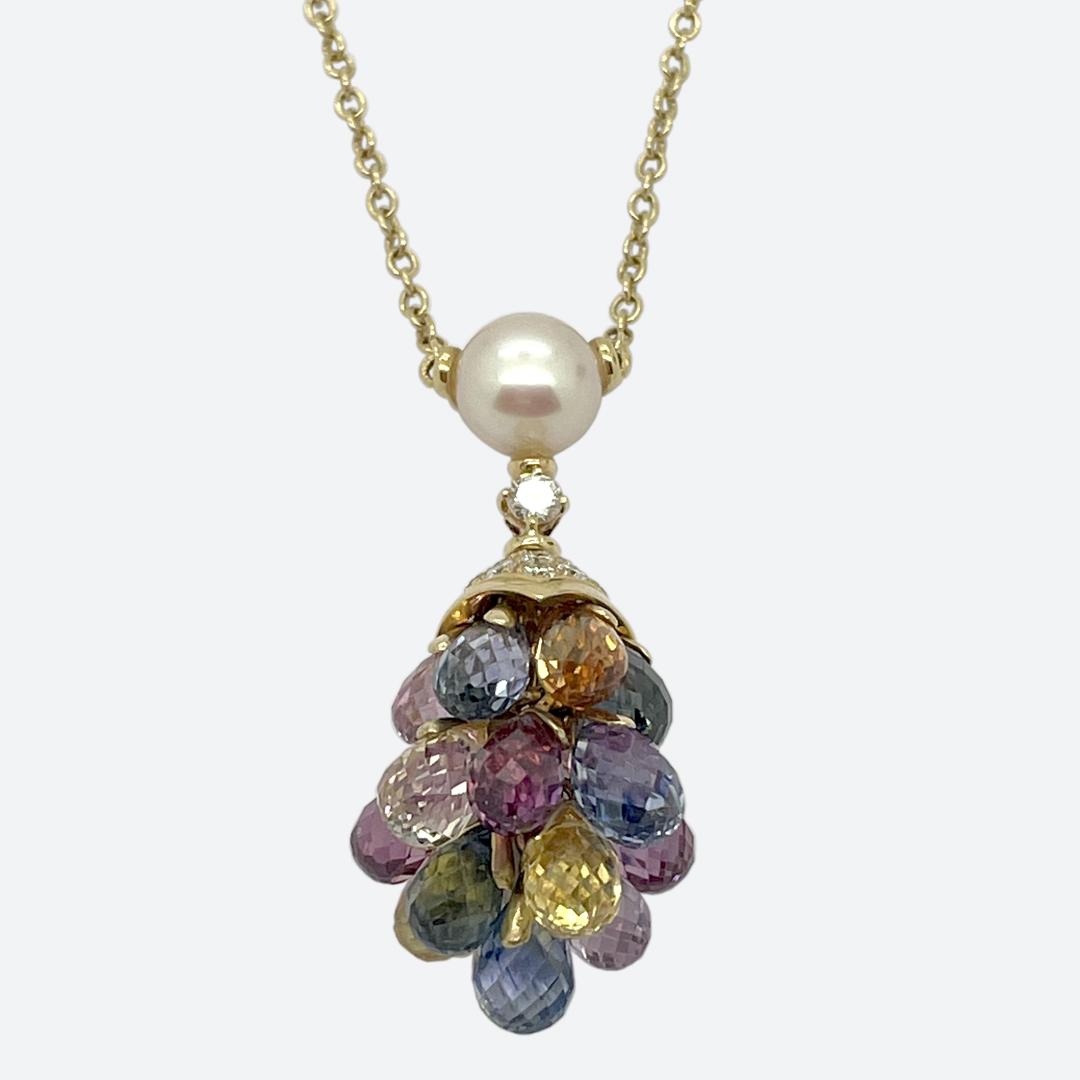 Bulgari briolette sapphire necklace