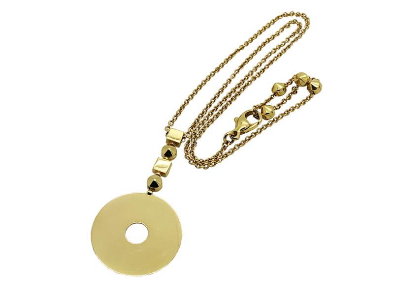 Bulgari disk necklace