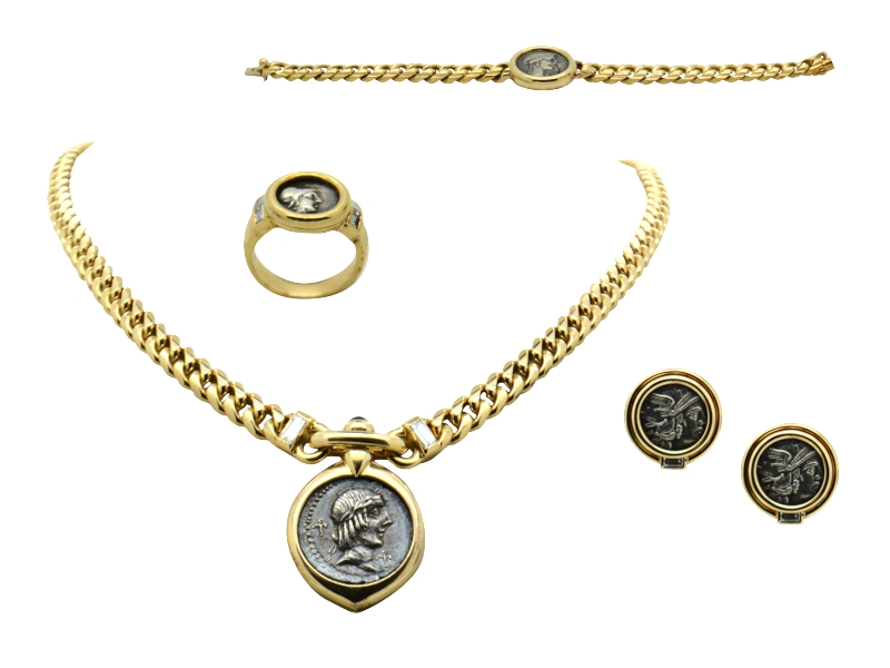 Bulgari antique coin set