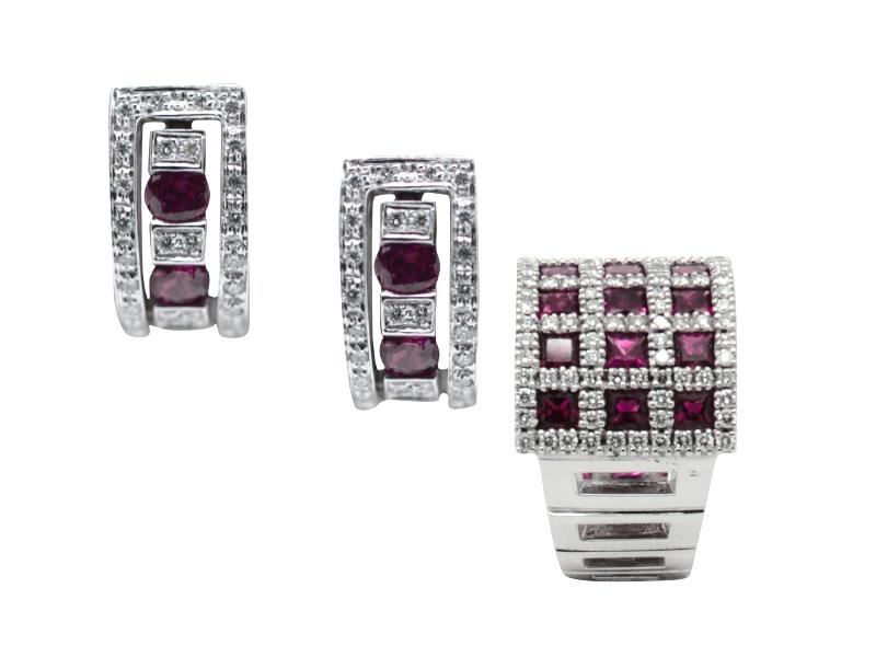 Damiani ruby and diamond set