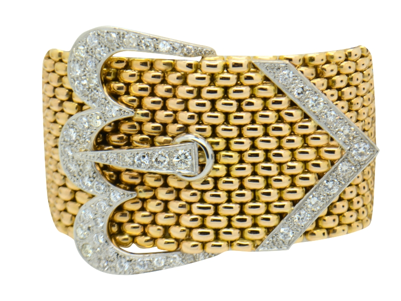 Chaumet gold and diamond bracelet