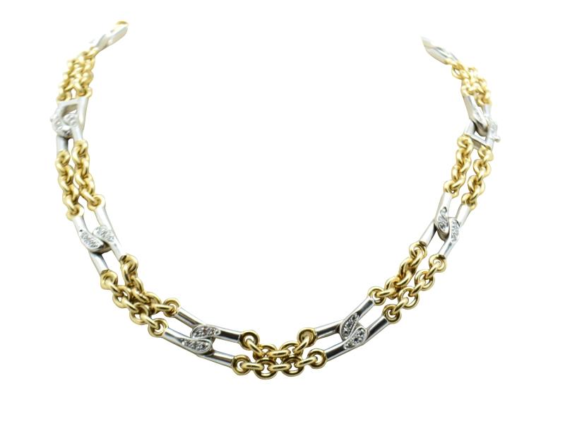 Pomellato gold and diamond necklace