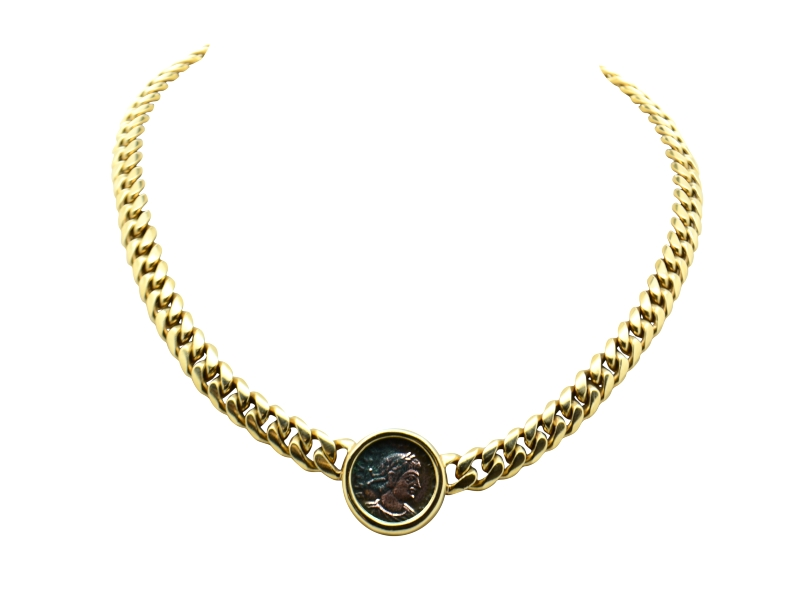 Bulgari coin necklace