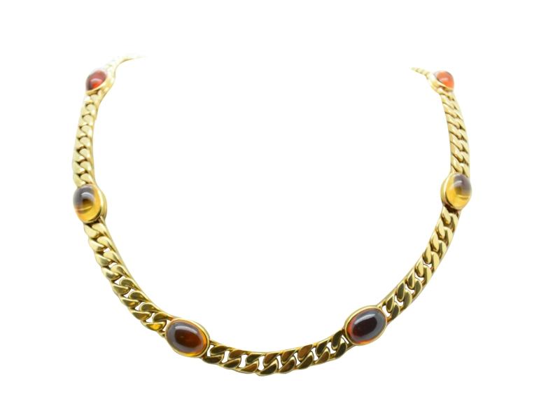 Bulgari topaz necklace