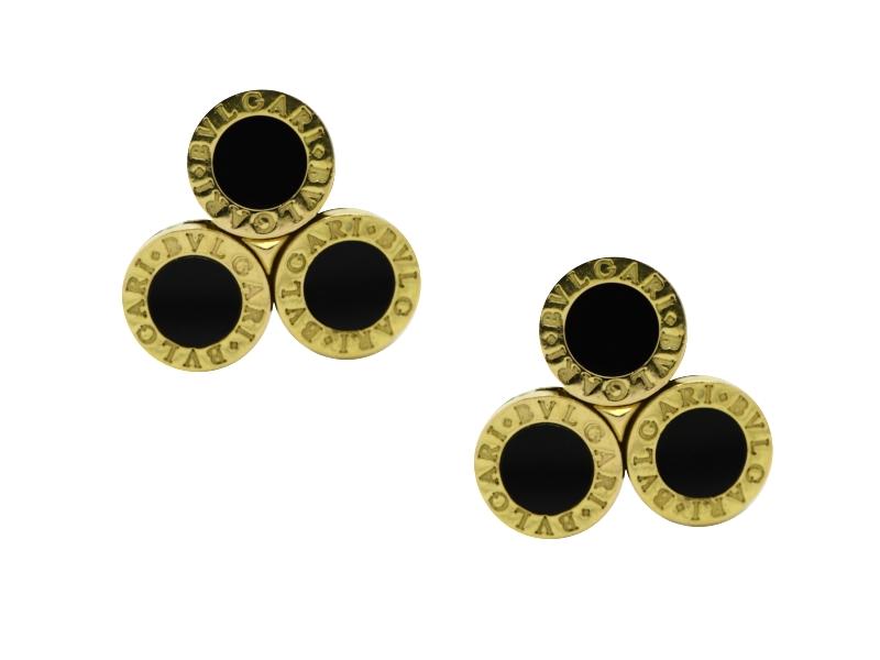 Bulgari onyx earrings