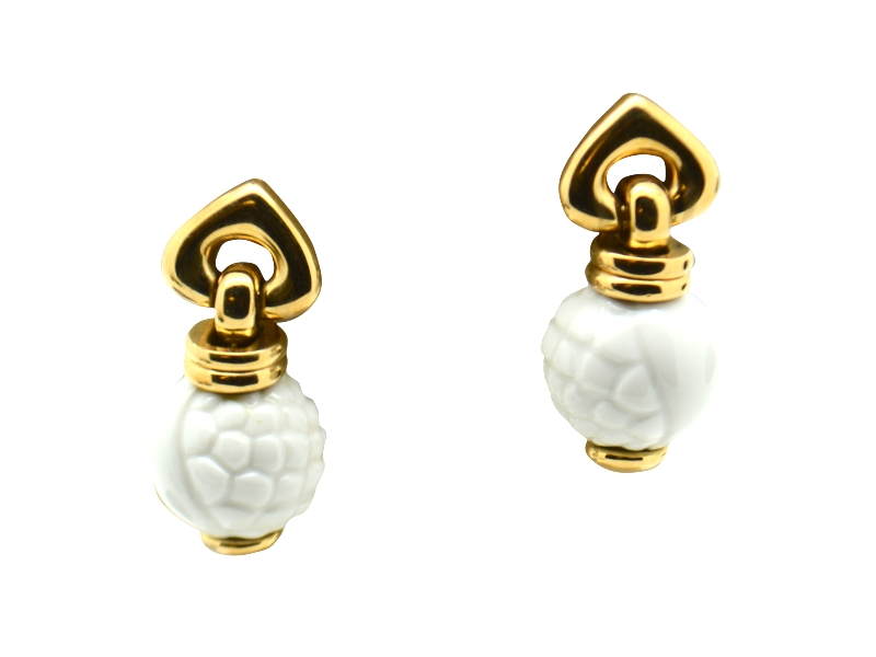 Bulgari ceramic earrings