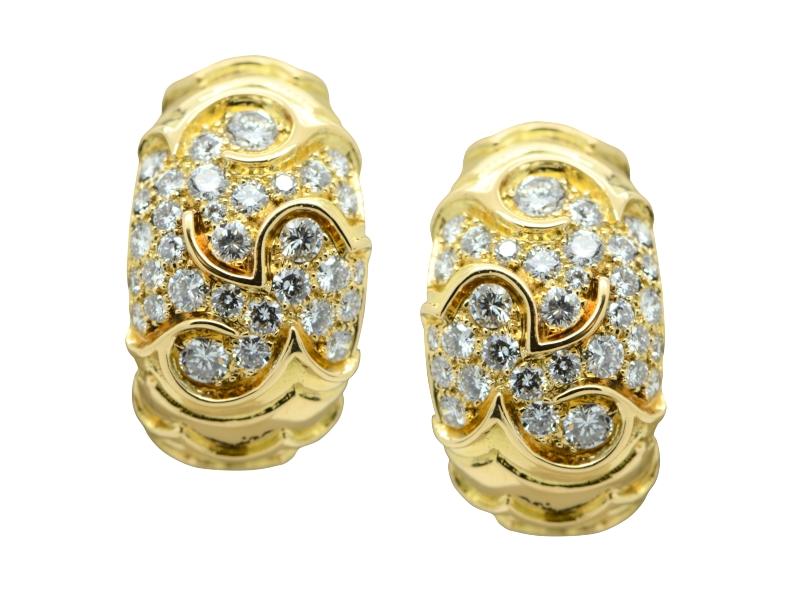 Marina B. gold and diamond earrings