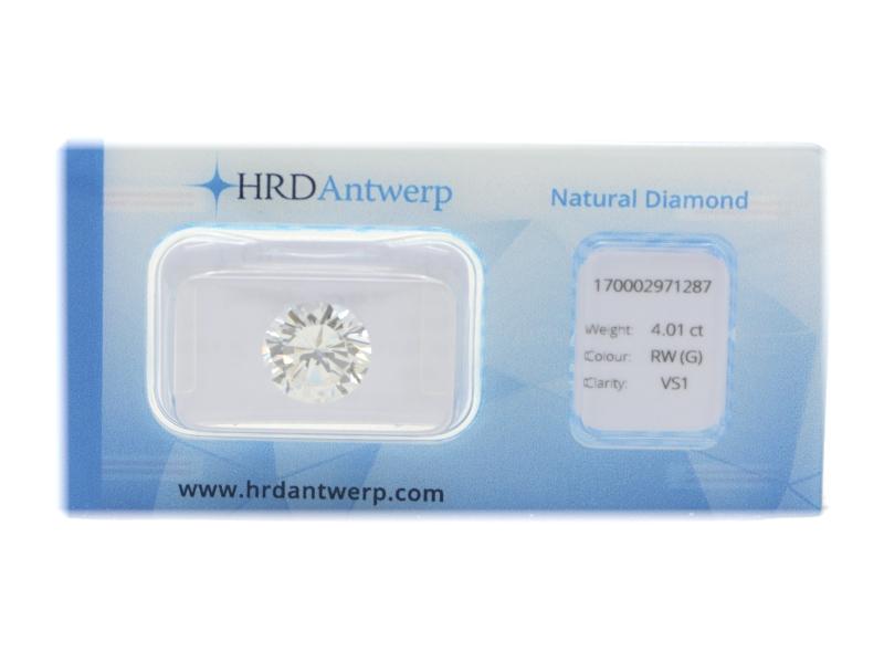 Round cut diamond ct 4.01
