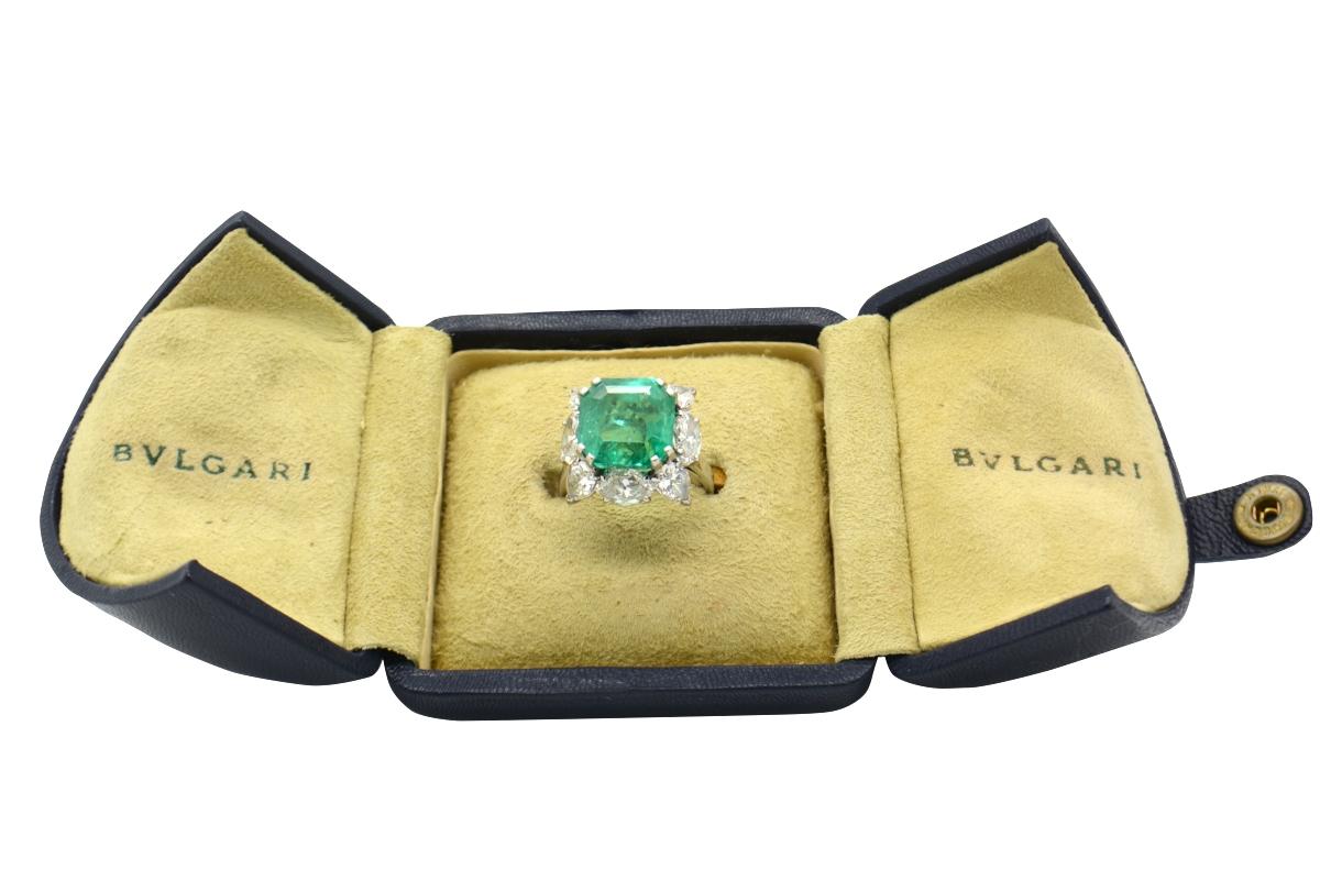 1950s Bulgari emerald ring