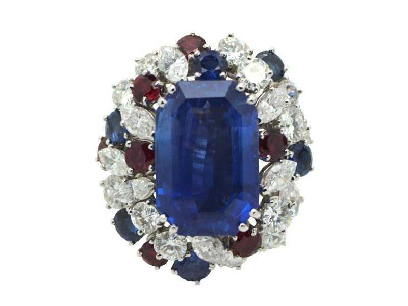 1960s Burma sapphire ring