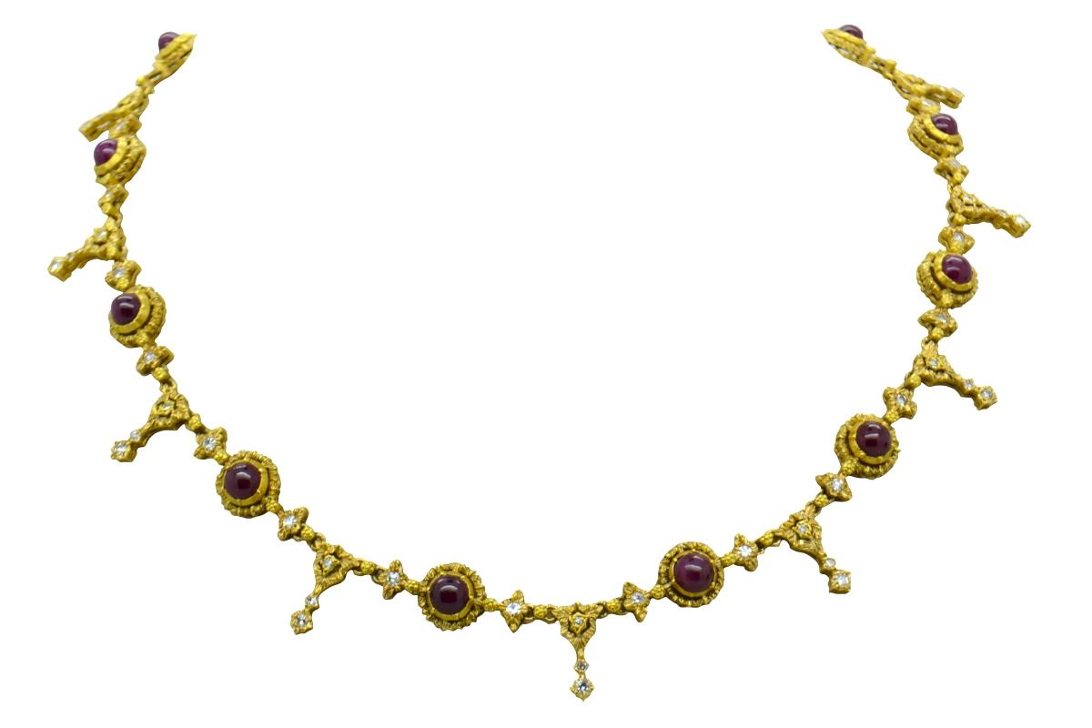Buccellati ruby necklace