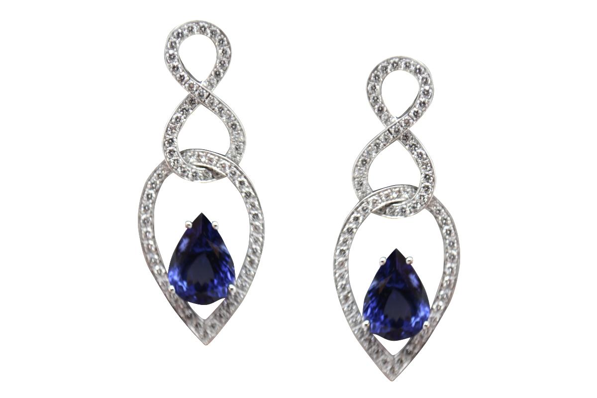 Massoni tanzanite earrings
