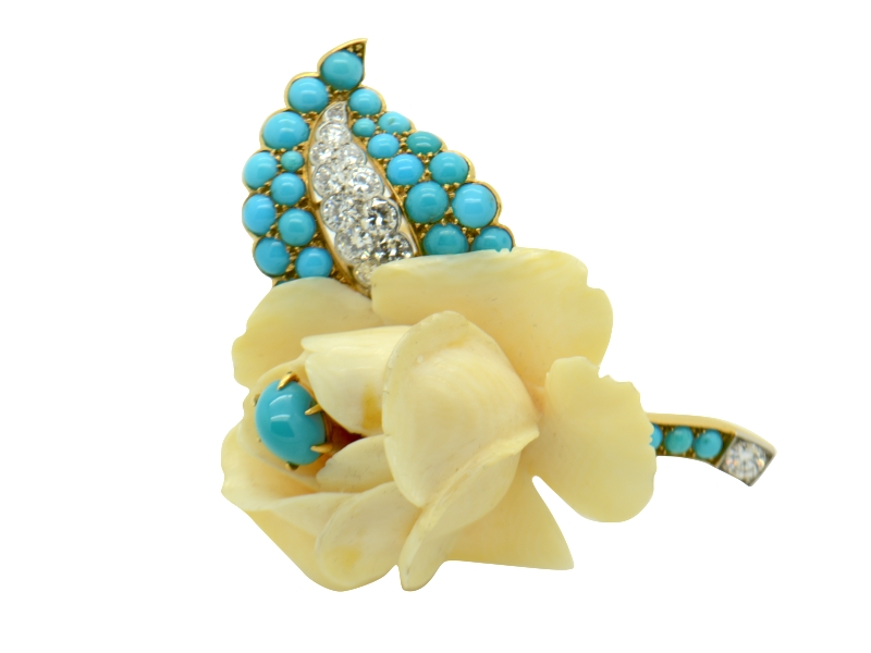Cartier turquoise brooch