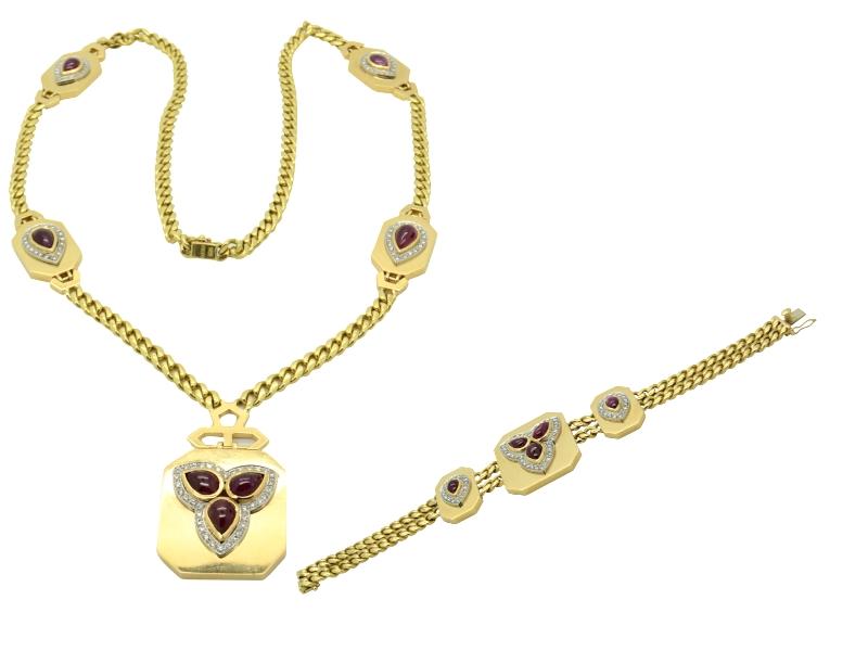 Petochi ruby and diamond set
