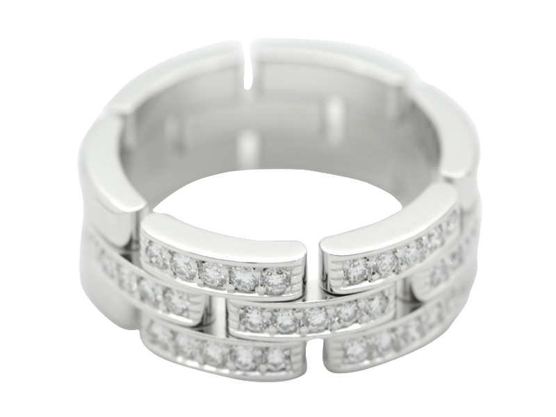 Cartier round cut diamond ring