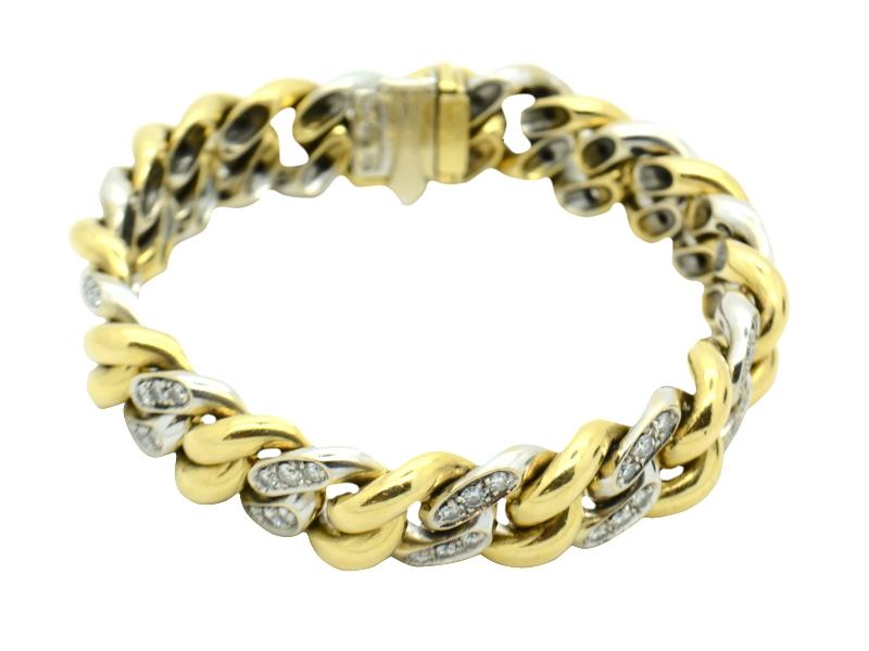 Pomellato gold and diamond bracelet