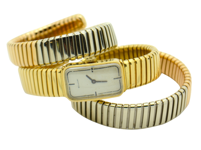 Bulgari three colors gold watch