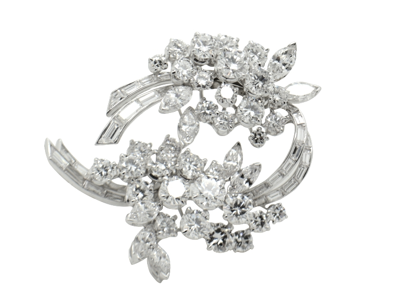 Massoni diamond brooch